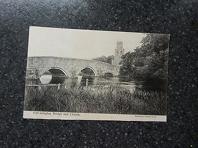 Early Postcard - Fotheringhay Bridge & Church - Nr Oundle - Northamptonshire