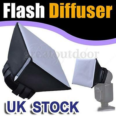 UK Caja Suave Luz Flash Difusor Softbox Speedlite para CANON Nikon SB800 580EX