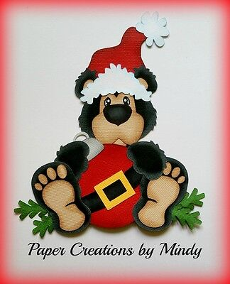 Craftecafe Mindy Christmas rustic bear premade paper piecing for scrapbook