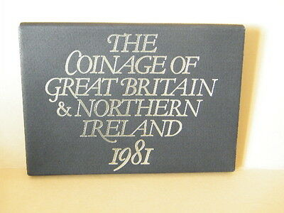 Royal Mint Coinage of Great Britain & Northern Ireland Proof Set 1981