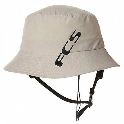 FCS Wet Bucket Surf Brim Hat in Sand for SUP/Kayak/Watersports and Surfing