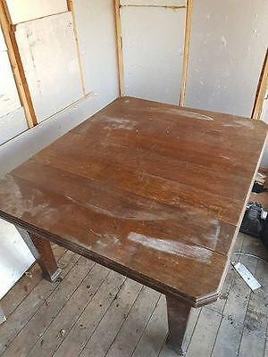 Antique Victorian Oak Extending Dining Table With Original Winding Handle