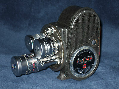 Bell and Howell 8mm Aristocrat cine camera. Taylor Hobson lenses