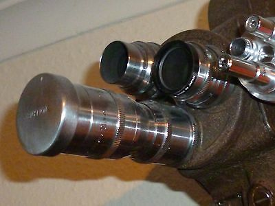 Bell and Howell 605 vintage cine camera with Taylor Hobson C mount lens, Superb