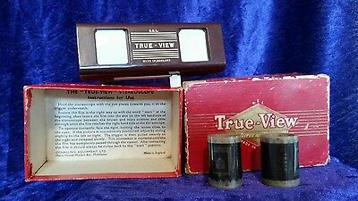 Vintage True-View Stereoscope Bakelite Boxed 1950s + 2 Festival of Britain Films