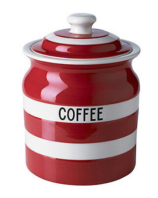 Cornish Red Coffee Storage Jar by T.G.Green Cornishware