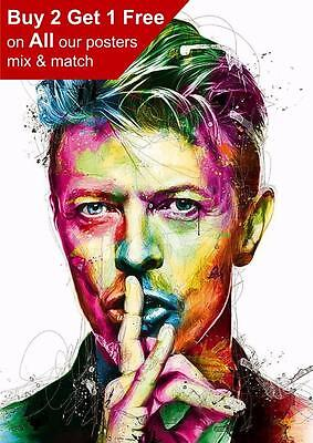 David Bowie Abstract Poster A5 A4 A3 A2 A1