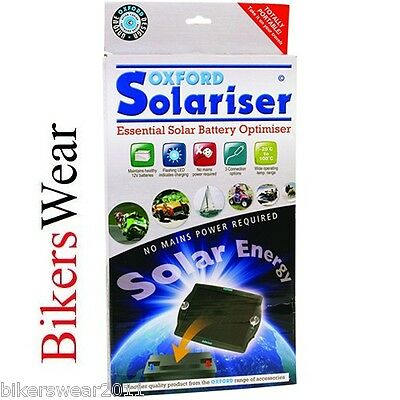 Oxford Solariser Essential Solar Battery Charger Optimiser Motorcycle Car OF949