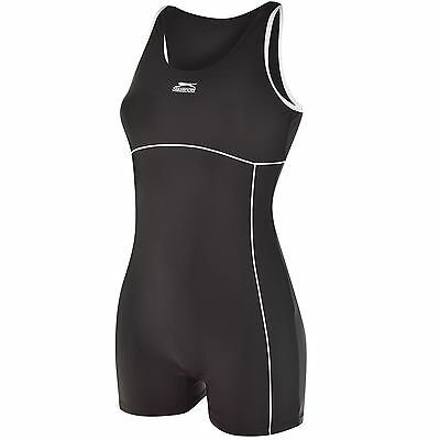 Mouse over image to zoom Womens-Swimming-Costume-Ladies-Slazenger-Boyleg-Suit-S