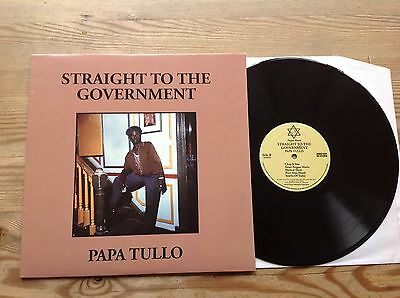 Papa Tullo Straight To The Government Rare Negus Roots Vinyl Lp Near Mint Reggae