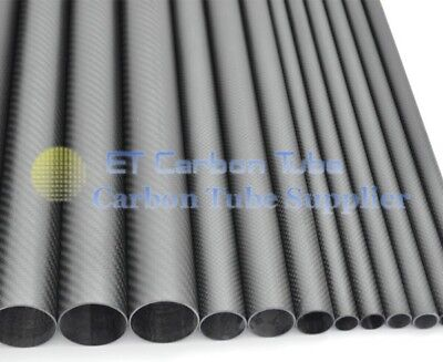 500mm Long x 50mm OD x 47mm ID Carbon Fiber Wing Tube For Quadcopter Multicopto