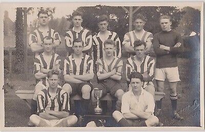 Rp Chatteris Football Team C 1924 Real Photo By Ernest E Skeels