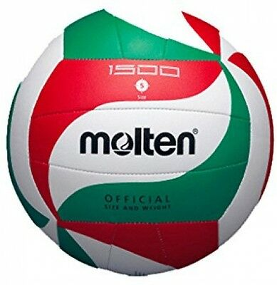 Molten V5M1500 volleyball ball white/green/red colour size 5.Training ball - New