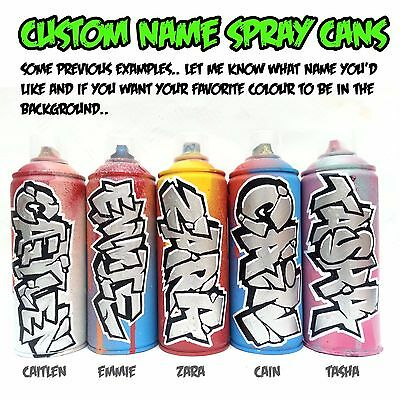Graffiti Name Spray Can Personalized Christmas Present For Him Her Boys Girls Uk