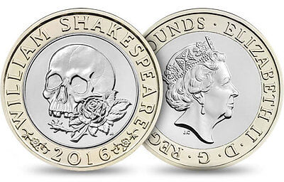 RARE UNCIRCULATED William Shakespeare COLLECTION £2 2016 COIN Two Pounds D6