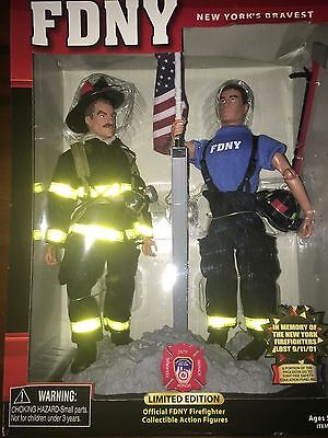 FDNY LE Official Firefighter Collectible Action Figures NIB