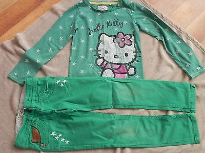 Next Girls Hello Kitty T Shirt/Top & Matching Jeans Age 8 Yrs