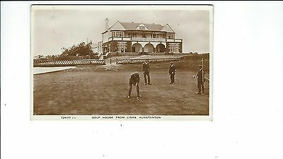 Hunstanton Golf Club : Golf House from Links : Player Putting : c.1925