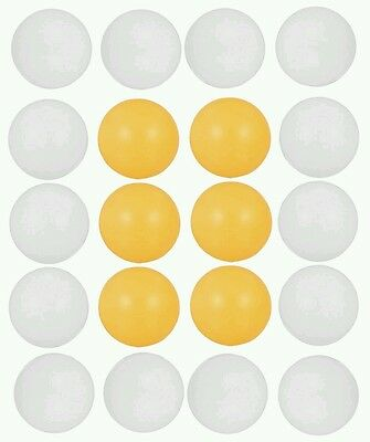 12 x Table Tennis Balls Ping Pong Sport Tournament Indoor/Outdoor Cat Play Toy