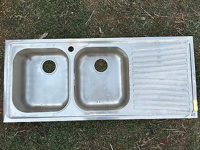 Kitchen sink stainless steel double bowl