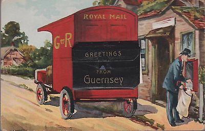 Vintage Novelty Card Greetings From Guernsey