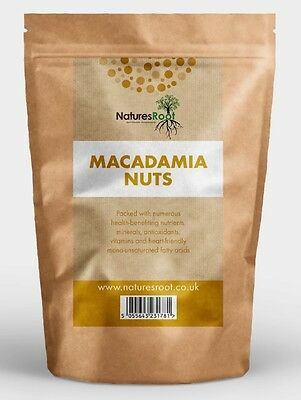 Certified Organic Raw Macadamia Nuts - Natural Whole Premium Quality - ALL SIZES