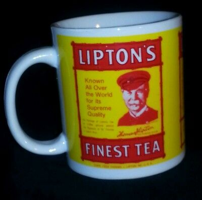 Lipton's Finest Tea Advertising Coffee Mug EUC