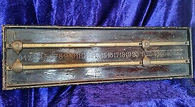 Victoria Solid Wood Sports Score Marker Board Snooker Pool Games c1890s