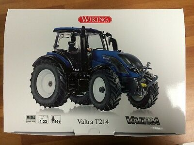 Valtra T214 In Blue Wiking 1/32 Scale Model Toy Tractor Dealer Box