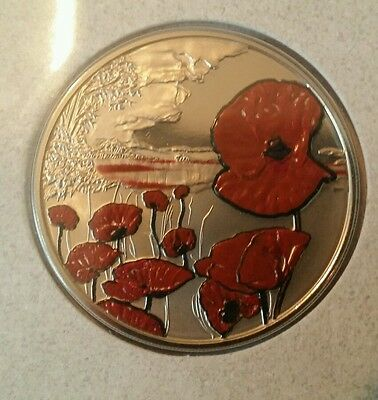 The Royal Mint - We Who Remain - Poppy Remembrance £5 Coin Rare Collectable