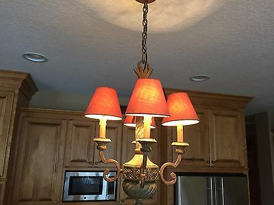 6 Candle Lamp CHANDELIER Shades  Clip on Bulb