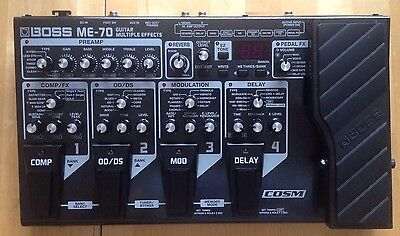 Boss ME 70 Guitar Multiple Effects Pedal Processor
