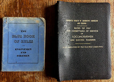 Blue Book of Rules for Enginemen and Firemen + ASLEF Conditions of Service BR