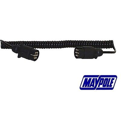 Maypole MP588, Curly Extension Lead - 1.5m - 12N 7 Core