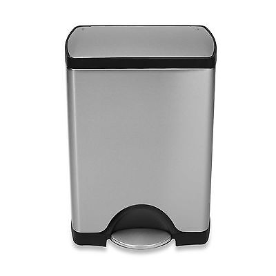 simplehuman Deluxe Stainless Steel 30 L Step On Trash Can