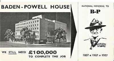 Baden Powell House appeal leaflet from 1950s
