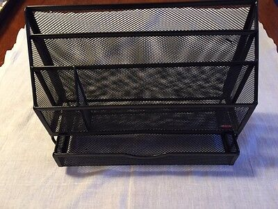 Desk top file organizer with drawer by rubbermaid