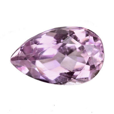 5.560Cts Amazing Stunning Luster Soft Pink Natural Kunzite Pear Loose Gemstone