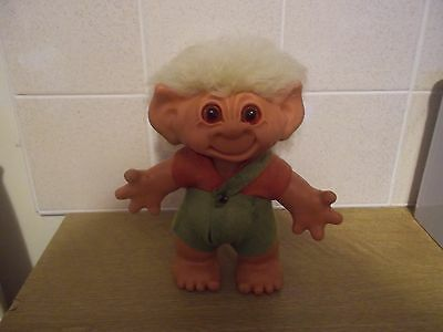 dam boy troll doll made in the early 1960s with green hair all original so cute