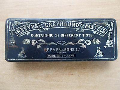 Vintage Tin Of Reeves Greyhound Artist Pastels - Full Of Various Tints