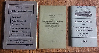 ASLEF Rules and Conditions of Service booklets 1925 and 1966