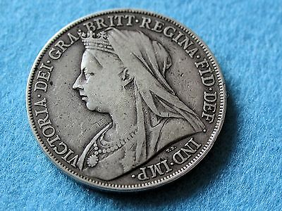 Queen Victoria Silver Coin 1900 Lxiii Crown