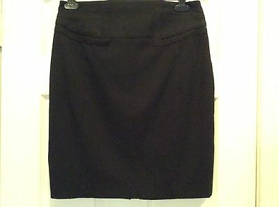 Express Dress Skirt Size 8 Black Knee Length Stretch Excellent Condition