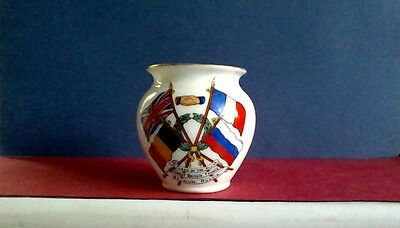 WW1 CRESTED CHINA, GOSS FLAGS OF THE ALLIES bowl