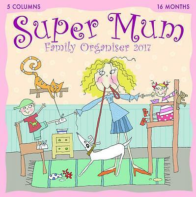 Super Mum 2017 Uk Square Wall Calendar Family Planner New And Sealed