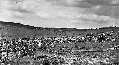 PHOTOGRAPHIC GLASS NEGATIVE BRITISH TROOPS ON DARTMOOR c1895 ARMY MANOEUVERS