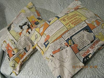 "1 pair of vintage cotton cushion covers 18""x18"""