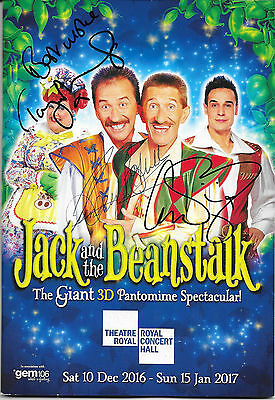 Chico  The Chuckle Brothers  Tony Maudsley Signed Jack & The Beanstalk Program