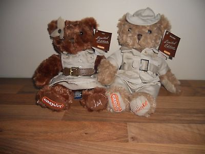 Two Limited  Edition Safari Easyjet Bears Lily And Gulliver 9''