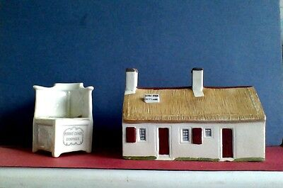 CRESTED CHINA, BURNS CHAIR and BURNS COTTAGE